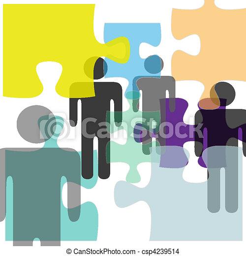 La gente con problemas de salud mental soluciona la confusión - csp4239514