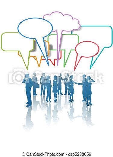 La gente de los medios de comunicación habla de colores - csp5238656