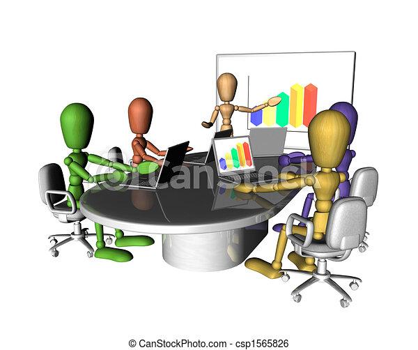 La gente de negocios se reúne con la presentación - csp1565826