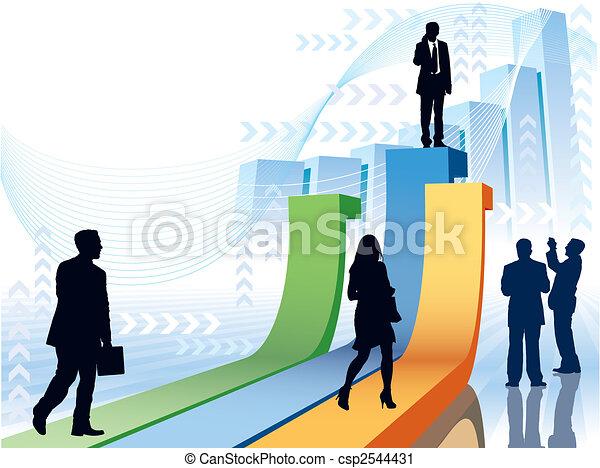 La gente de negocios tiene prisa - csp2544431