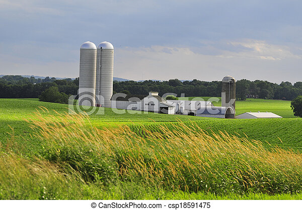 La granja del condado de Lancaster - csp18591475