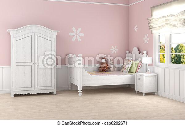 La habitación de la chica rosa - csp6202671
