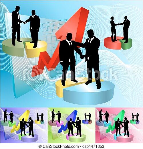 La ilustración de los negocios de Piechart - csp4471853