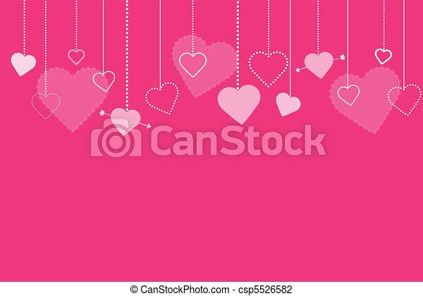 La imagen de fondo de Valentines rosas - csp5526582