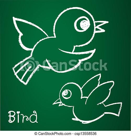 La imagen de un pájaro - csp13558536