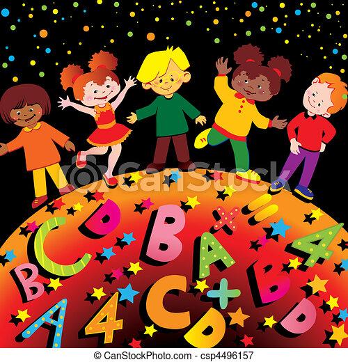 La infancia de la escuela. - csp4496157