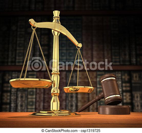 La justicia está servida - csp1319725