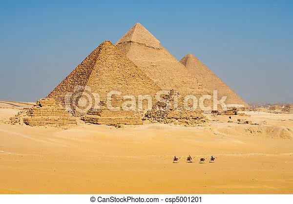 La línea de camellos camina pirámides - csp5001201