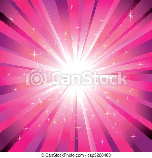 La luz magenta estalló con estrellas brillantes - csp3200463