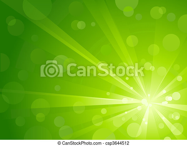 La luz verde reventó con luz brillante - csp3644512