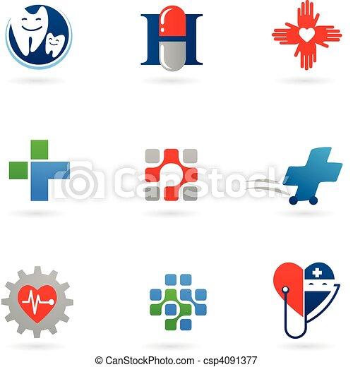 La medicina y los iconos sanitarios - csp4091377