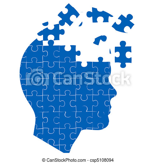 La mente del hombre con rompecabezas - csp5108094