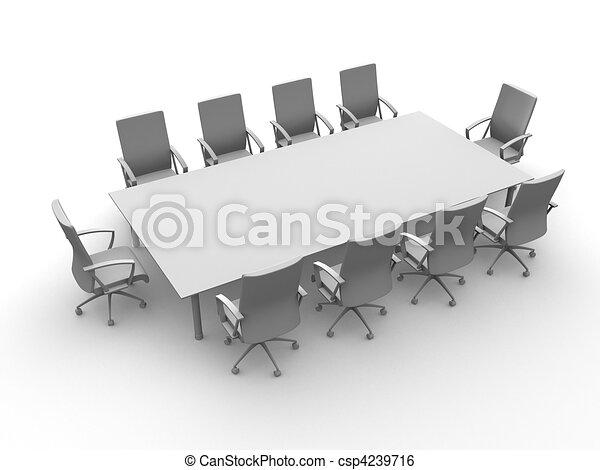 La mesa de conferencias - csp4239716