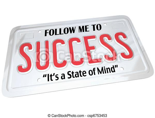 La palabra exitosa en la matrícula sigue al futuro exitoso - csp6753453
