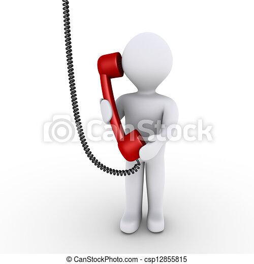 La persona está hablando por teléfono - csp12855815