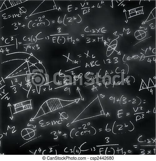 La placa de tiza de las matemáticas - csp2442680