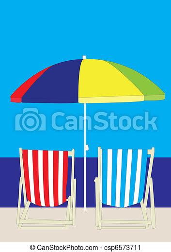 La playa del sillón - csp6573711
