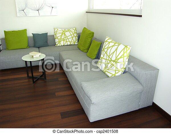 La sala de estar moderna - csp2401508