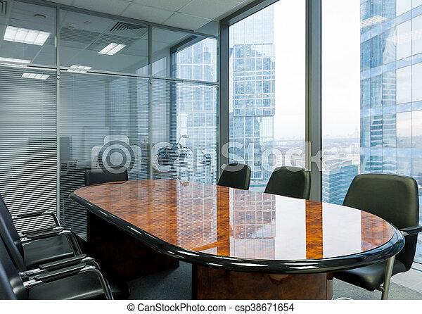 La sala de reuniones moderna en la oficina - csp38671654