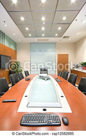 La sala interior de la oficina moderna - csp12582685