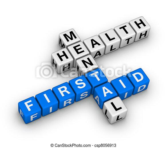 La salud mental es un crucigrama - csp8056913