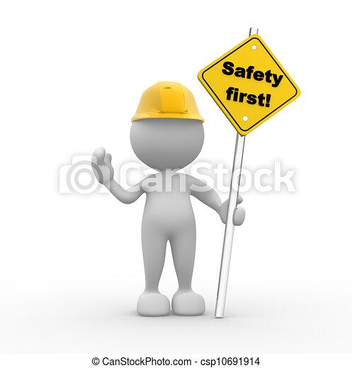 La seguridad primero - csp10691914