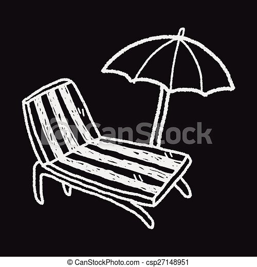 La silla Doodle Lounge - csp27148951