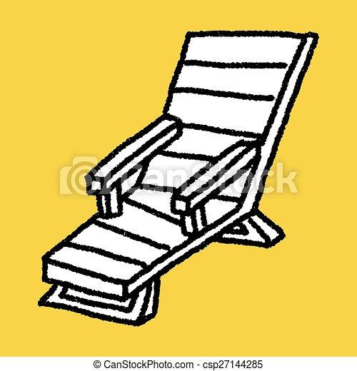 La silla Doodle Lounge - csp27144285