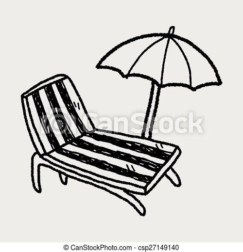 La silla Doodle Lounge - csp27149140