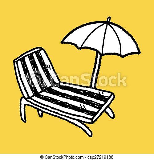 La silla Doodle Lounge - csp27219188