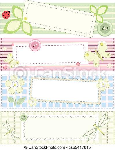 Pancartas de vector de colección con parches - csp5417815