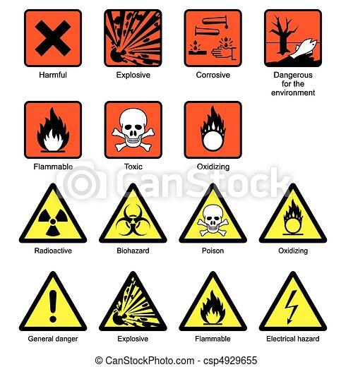 Signos de seguridad de laboratorio de ciencias - csp4929655