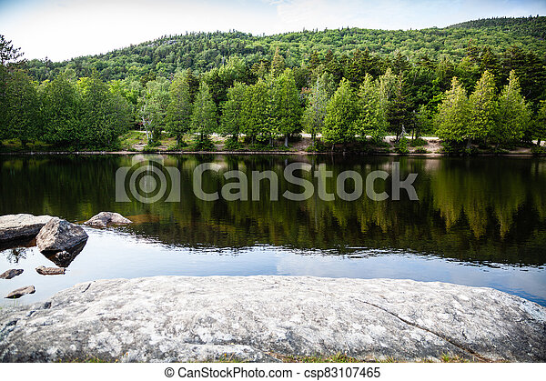 lago, adirondack, área - csp83107465