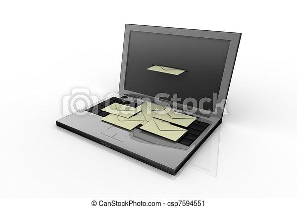Laptop y correo - csp7594551