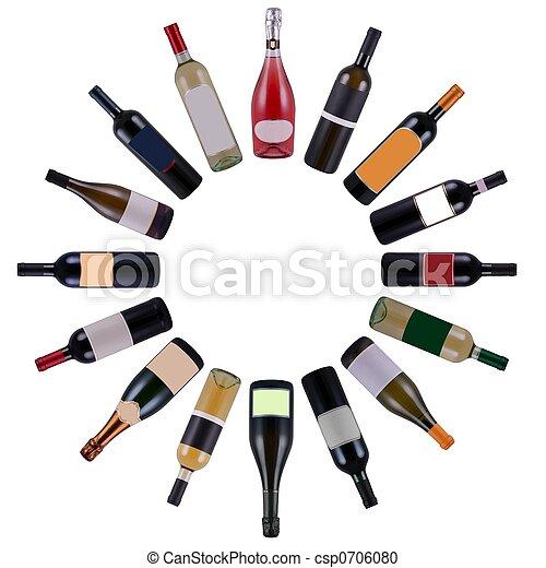 Las botellas de vino giran - csp0706080