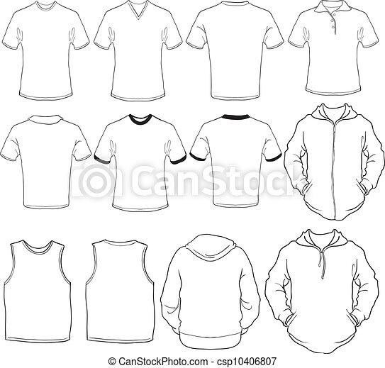 Las camisas masculinas se templan - csp10406807