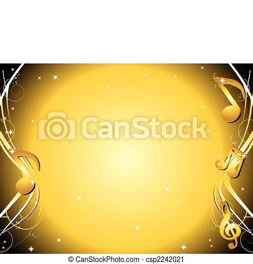 Las notas de música dorada - csp2242021
