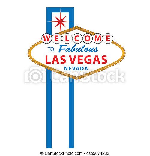Bienvenidos al signo de Las Vegas - csp5674233
