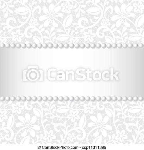 Lazo, cinta y perla - csp11311399