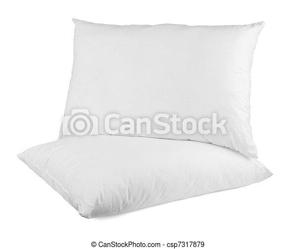 Cama de cama de almohada durmiendo - csp7317879