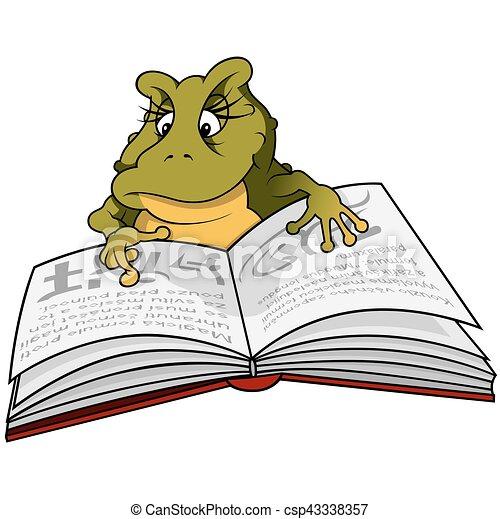 Libro de lectura de ranas verdes - csp43338357