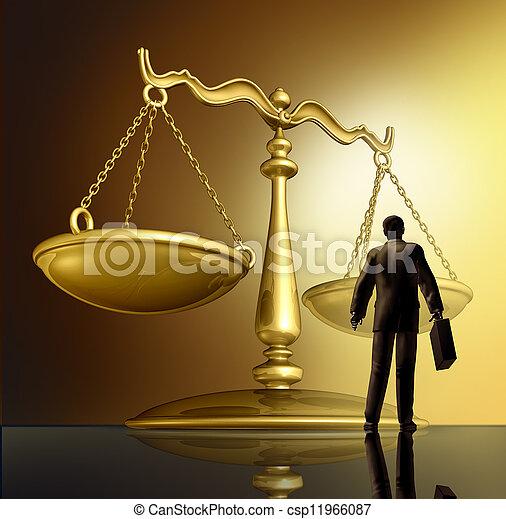 Abogado y la ley - csp11966087