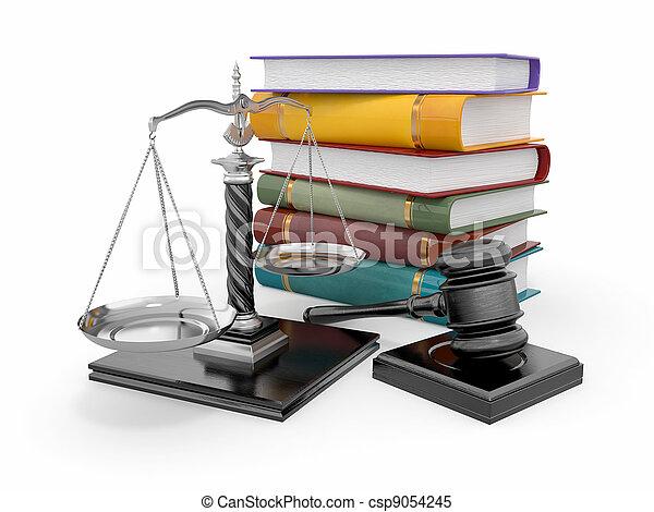 Un concepto de justicia. Ley, escala y mazo - csp9054245