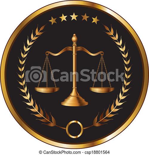 Ley o sello de capas - csp18801564