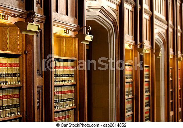 biblioteca de libros de derecho - csp2614852