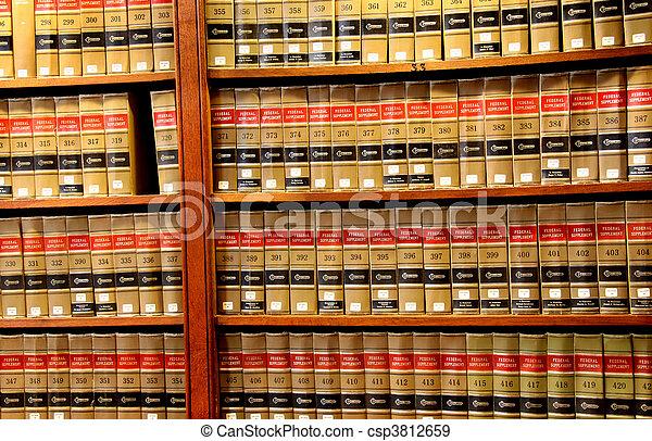 biblioteca de libros de derecho - csp3812659