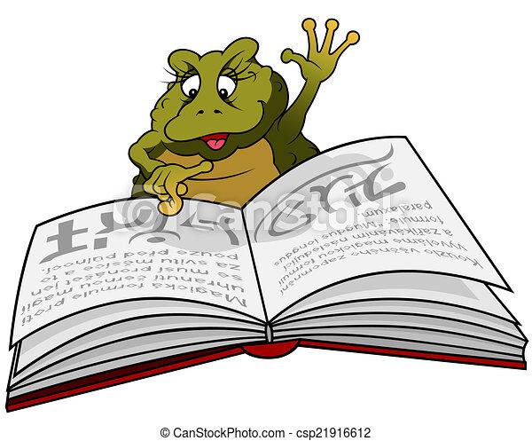 Libro de lectura de ranas - csp21916612