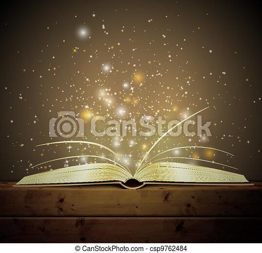 Libro mágico - csp9762484