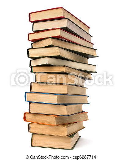 Un montón de libros - csp6287714
