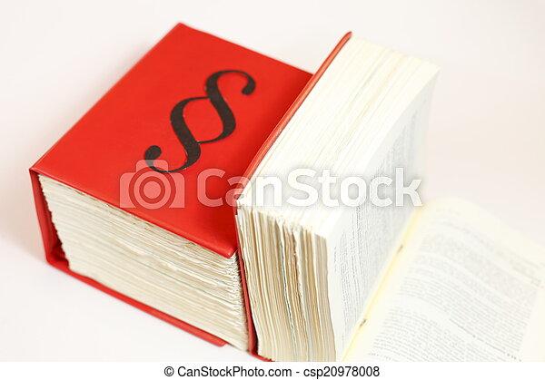 Libros de leyes - csp20978008